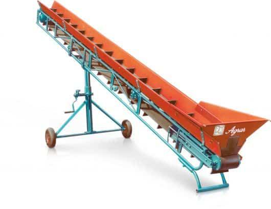 Förderband für Landwirtschaft orange-blau Reifen Huber