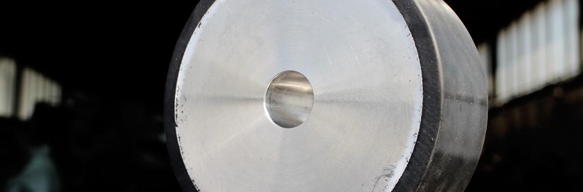 Gummi-Metallteil Huber Technik Erding Metallscheibe mit Gummiumrandung Gummikleinteil