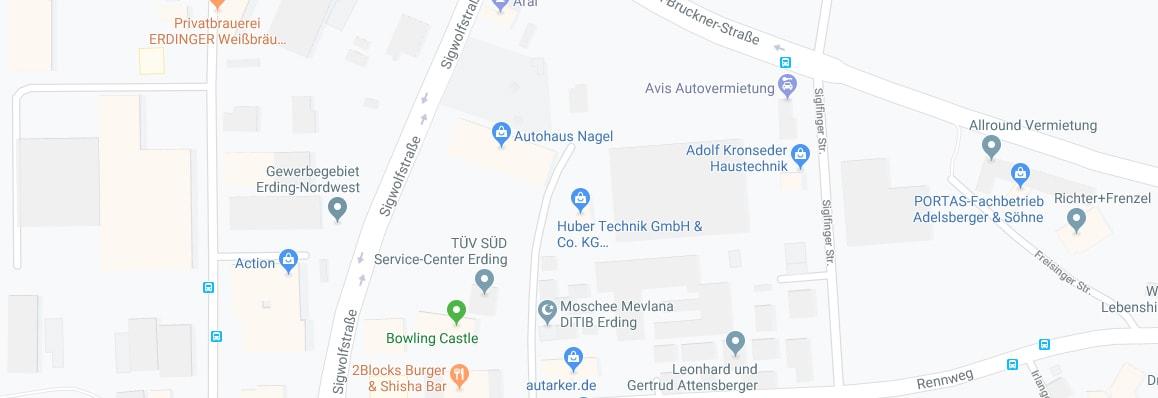 Standortangabe Huber Technik Google Maps